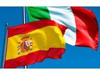 Italian and Spanish lessons