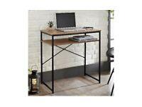 Wooden desk with metal frame