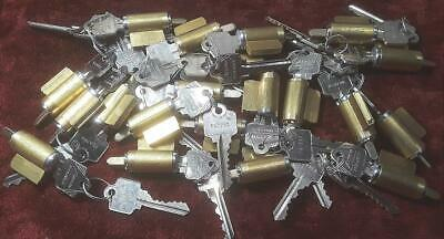 Near Mint Big Lot Of 20 Complete And Working Arrowschlage Lock Cylinders