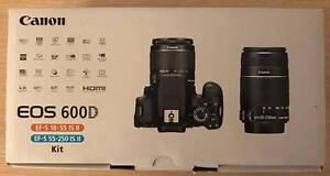 Canon EOS 600D Twin Lens 18-55mm & 55-250mm Digital SLR Camera Wolli Creek Rockdale Area Preview