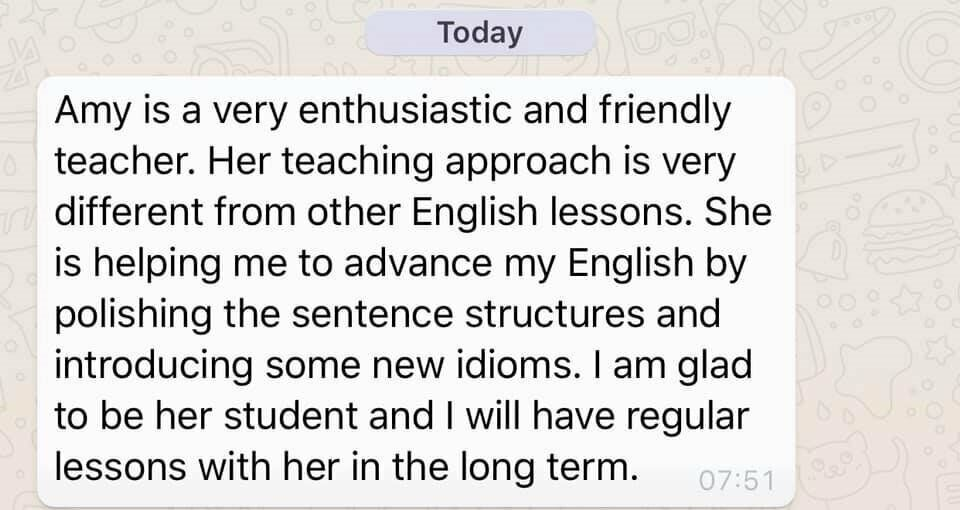 Learn English with Amy - EFL *AND* GCSE - Online AND in person | in