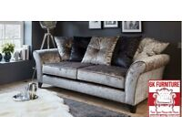 FABRIC/CRUSH VELVET SOFA LUXURY **Marylan SOFA* CHEAPEST PRICE 3+2/Corner sofa 90784
