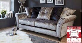 FABRIC/CRUSH VELVET SOFA LUXURY **Marylan SOFA* CHEAPEST PRICE 3+2/Corner sofa 90784