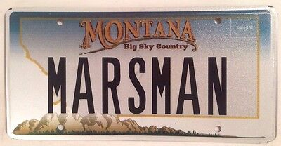 Montana vanity MARS MAN license Plate Planet Star Austronaut Astrology Alien ET