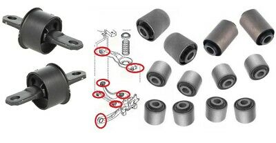 Rear Trailing Control Arm Suspension Wishbone Bushes Bushings for Ford Focus II
