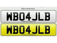 Private Number Plate WB04JLB