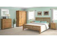 Newlyn Solid Oak bedroom furniture set for sale - collection only