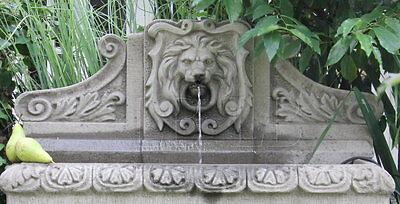 engl.Sandstein Gartenbrunnen Wand Brunnen Steinbrunnen 93cm Fontäne frostfest