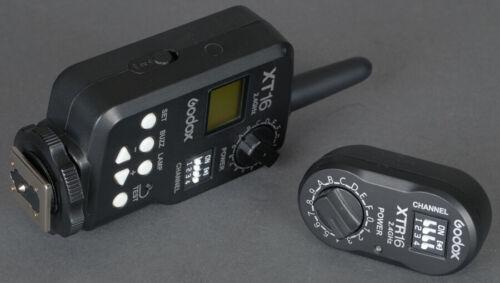 Mint Godox XT16 2.4GHz Transmitter w/XTR16  Receiver - Hardly used - Tested