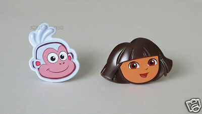12 Dora the Explorer Boots Cupcake Rings Topper Birthday Party Goody Bag Favor