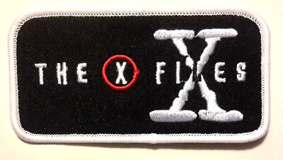 "X-Files Rectangular Logo 4"" Wide Embroidered Patch- USA Mailed (XFPA-05)"