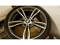 """Bmw 18"""" alloys with 4 new tyres"""