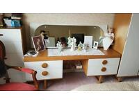 Bedside desk and mirror