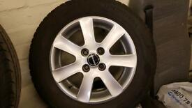 Borbet 4 x 100 Honda Fiat Ford alloy wheels with tyres 185 65 x 14