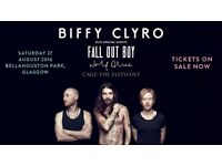 2 x Biffy Clyro -Summer Sessions Saturday 27th August Bellahouston Park Glasgow