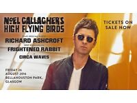 Glasgow summer sessions, Noel Gallagher's high flying birds plus support