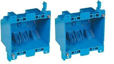2 Pack Carlon B225r 2-gang Old Work 25 Cu In Pvc Switch Outlet Electrical Box