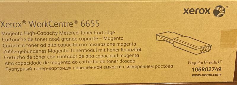 Xerox WorkCentre 6655 Magenta Cartridge 106R02749 New Sealed Genuine