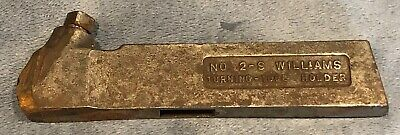 J.h. Williams No. 2-s Tungsten Carbide Turning Tool Holder