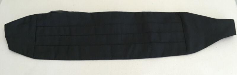 Christian Dior Tuxedo Cummerbund Polyester & Silk Black Adjustable WPL125 USA