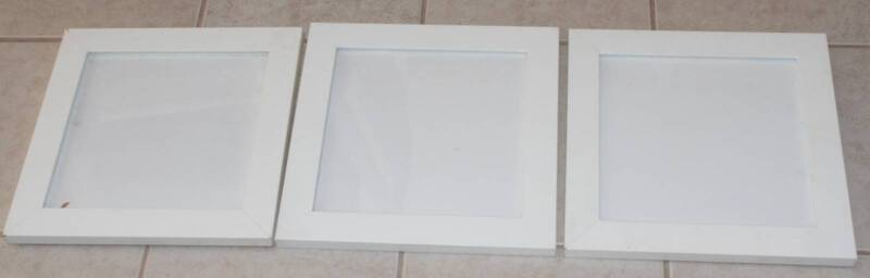 Shabby Chic White Photo or Art Frames Set of Three