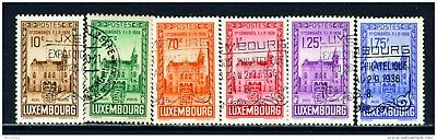 LUXEMBOURG - 1936 Philatelic Congress Set Used as Scan