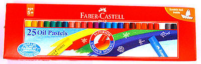 Faber-Castell :: 25 Oil Pastels :: 60 mm each :: Assorted Shades :: Colors