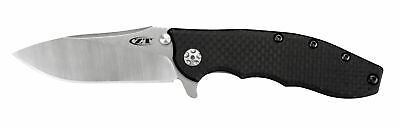 "Zero Tolerance ZT 0562CF Flipper Knife 3.62"" CPM-20CV Blade Carbon Fiber Handle"
