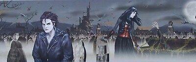 Vampire Wall Border, Halloween wall Décor, 9in. x 12ft, Twilight - Theme Border
