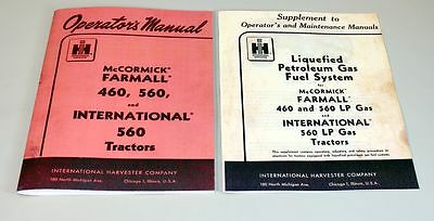 International Farmall 460 560 Lp Tractor Owner Operators Manual Lpg Gas Propane