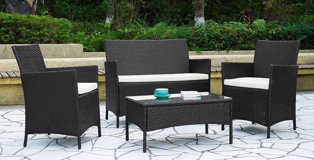 Garden Furniture Glasgow garden furniture set black rattan | in glasgow | gumtree