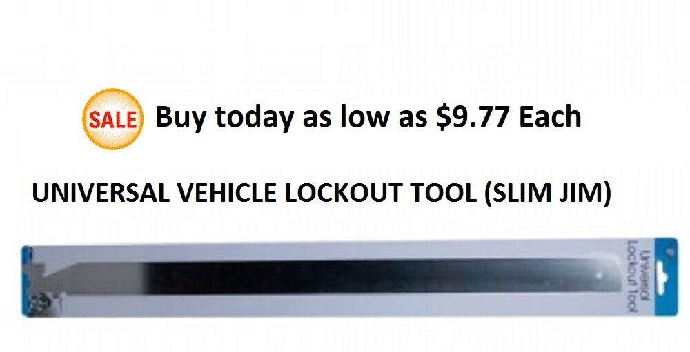 UNIVERSAL , SLIM JIM ,  Car Door Tool 1-1/4