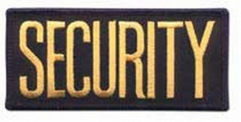2 Small Security Patches/ 4 1/4 inches x 2 inches GOLD / BLACK
