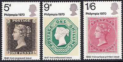 SG835-837 1970 PHILYMPIA Unmounted Mint GB
