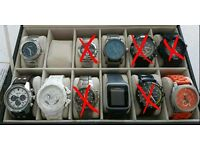 Selection of watches Seiko Citizen Fossil Animal AX TomTom