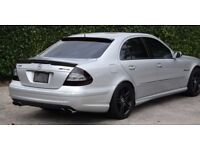 AMG MERCEDES E CLASS W211 ROOF + BOOTLID SPOILER UNPAINTED / BLACK ABS