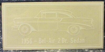 1956 Chevy Belair 2 Door Sedan Window Decal