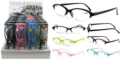 Plastic Color Reading Glasses With Semi Rimless Design