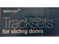 Sliding wardrobe door rails