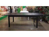 BJURSTA extendable table, black, IKEA MILTON KEYNES #bargaincorner
