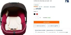 Mothercare car seat used only once