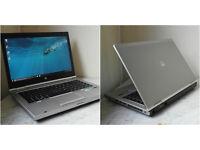 """Superfast silver aluminium HP EliteBook 14"""" i5 laptop. 8GB DDR3 RAM. 320GB hard drive."""