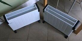 2000W freestanding convector heaters (quantity X2)