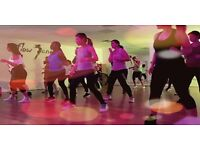 Dance Class, burn up to 1000kcals & learn to dance in this funky mix of RnB and latin rythmns