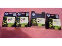 HP printer ink 933XL and 932XL