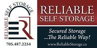 SECURE SELF STORAGE AVAILABLE IMMEDIATELY