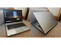 "Superfast, aluminium HP EliteBook 14"" i7 laptop with AMD graphics. 8GB DDR3 RAM. 320GB hard drive."