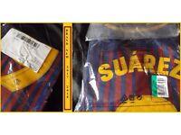 Barcelona Football Shirt Top New 2017-18 Season Printed 9 Suarez Never Opened.