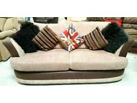 Modern 3 seater & large swivel chair can deliver 07808222995