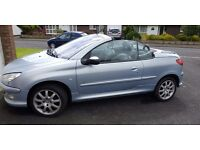 Reduced - Peugeot 206cc Cabriolet 2.0 1.6v Allure, price reduced now £1150